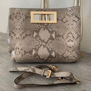 Michael Kors Leather Python Large Satchel